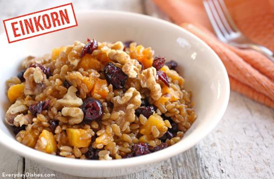 Wheat Berry Winter Breakfast Bowl