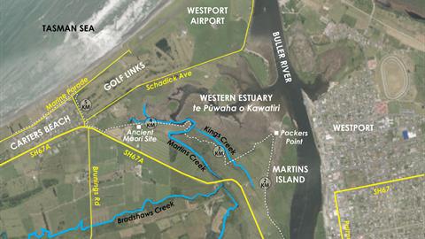 Map of Kawatiri Coastal Trail