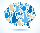 Hands forming idea bubble