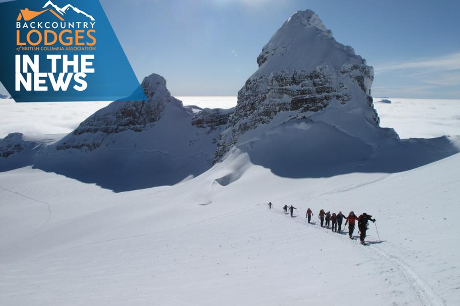 BLBCA Member Lodge, Icefall Lodge, Featured in Calgary Herald