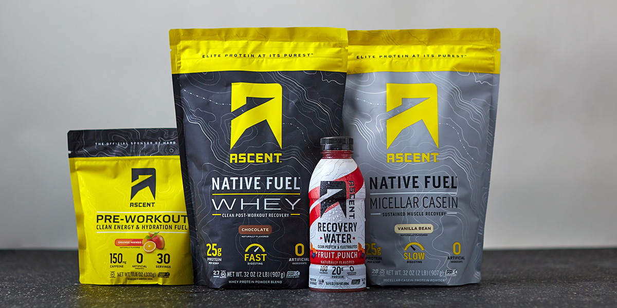 From Pre to Post Workout, Ascent Has You Covered