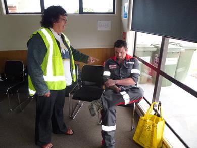 Keeping control of unruly evacuees in Ruakaka