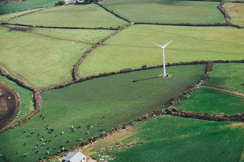 turbine in green field