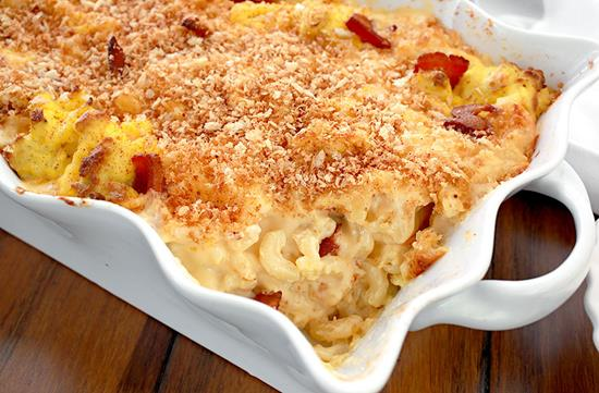 Bacon & egg mac & cheese