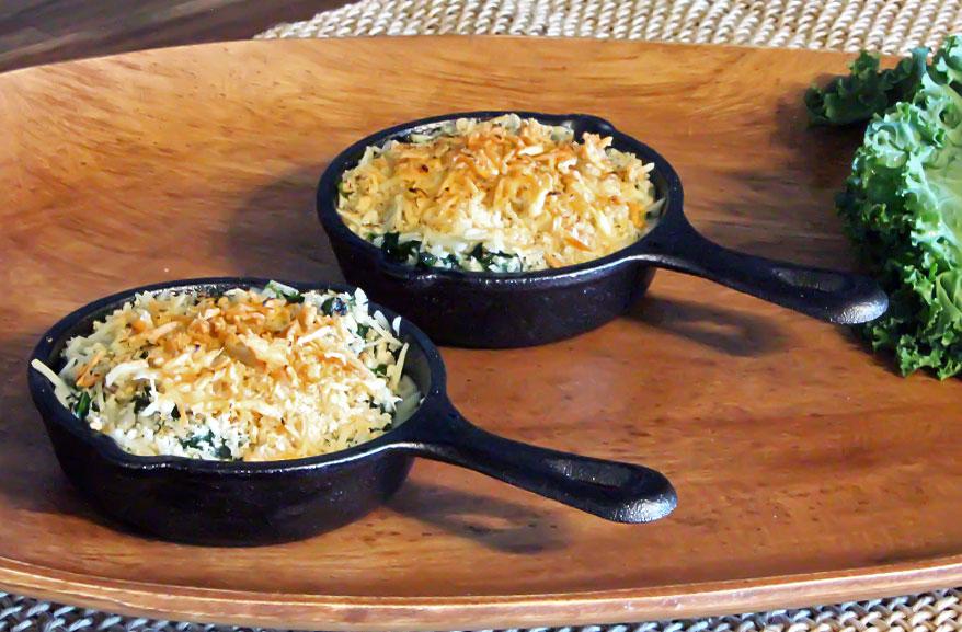 Parmesan kale gratin