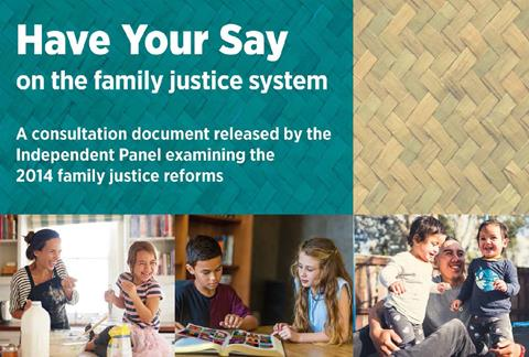 Have your say on the family justice system - consultation document title page
