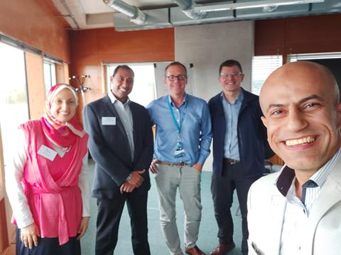 Colleagues from The Knowledge Hub with Peter Harrison and Nigel Trodd from Coventry University