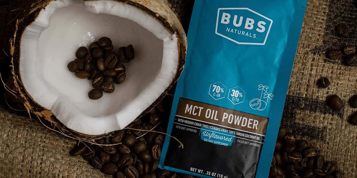 Jumpstart your resolutions with FREE BUBS MCT Oil Powder.