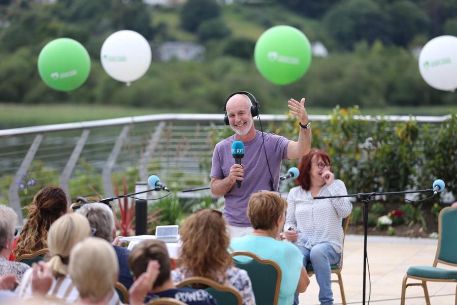 Ray D'Arcy on Lough Derg