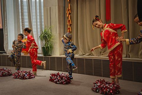 Children performing at the Chinese New Year celebration in Parliament