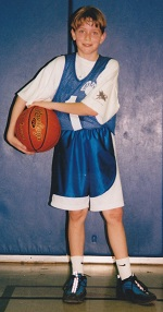 Photo: Tyler at basketball
