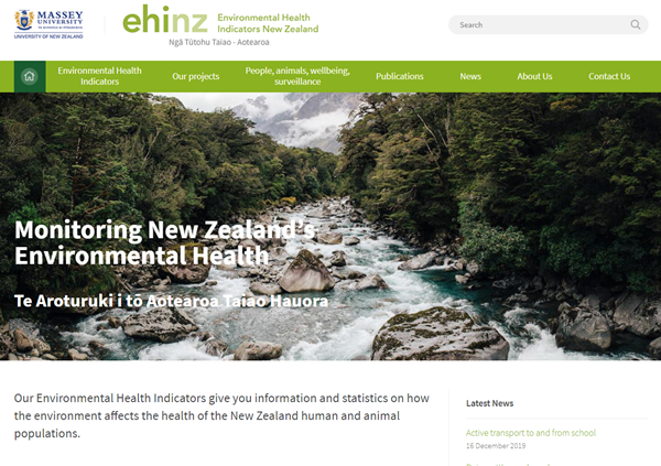 EHI website screenshot