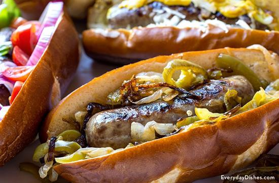 Juicy Grilled Beer Brats