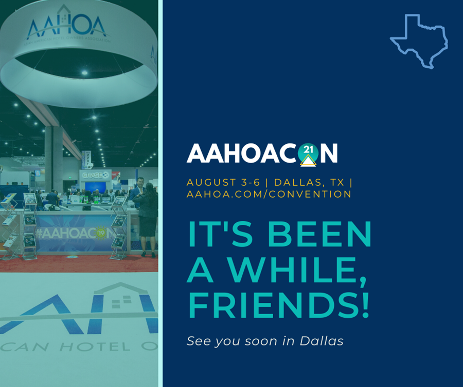 Visit us at the 2021 AAHOA National Convention & Trade Show