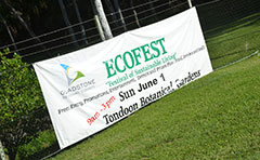 Photo of Tondoon Botanic Gardens Ecofest sign