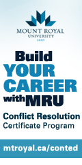 Ad: Mount Royal University - Conflict Resolution Certificate