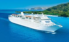 P and O cruise ship