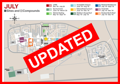Image of the campus map