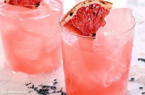 Blushing Whiskey and Lavender Cocktail