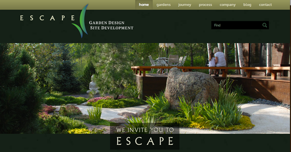 Escape Garden Design Website Image