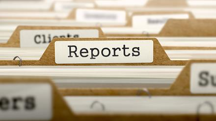 Reports tab in focus on file drawer