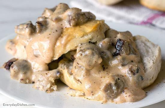 Sausage Gravy and Biscuits Video