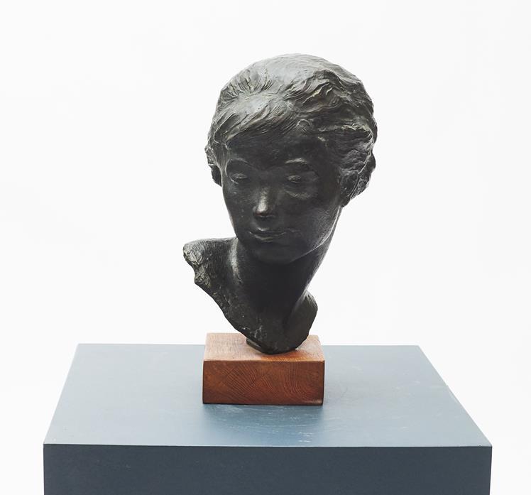 Anker Hoffmann bronze buste