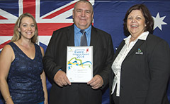 Past Australia Day Award winners with Mayor Gail Sellers
