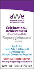 Ad: Alberta Women Entrepreneurs Gala