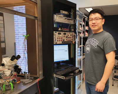 Yunqing Zhou in the Jegla lab