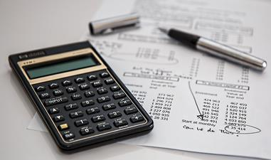 calculator and accounting forms