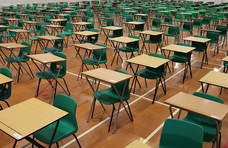 photo of an exam hall