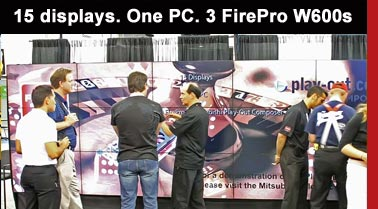 AMD FirePro W600 Single-Card Solution Capable of Driving up to Six Digital Signage Displays