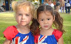 Kids celebrating Australia Day