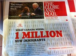 A picture from the Globe and Mail Paper from this past weekend
