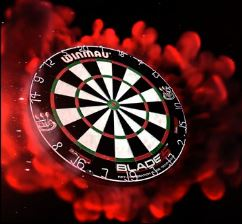 Dart board surrounded by flames
