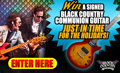 Win a signed Black Country Communion Epiphone, just in time for the Holidays! Click here to enter!