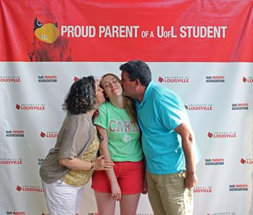 image of daughter and parents during orientation #2
