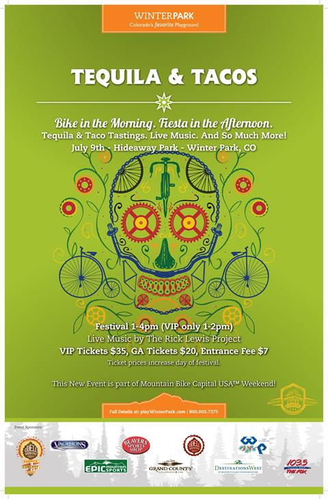 Tequila & Tacos new event during Mountain Bike Capital USA Weekend