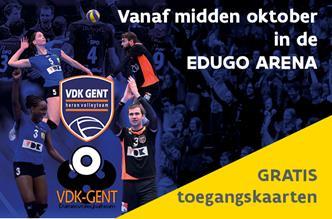 Gratis toegangksaarten voor VDK volley