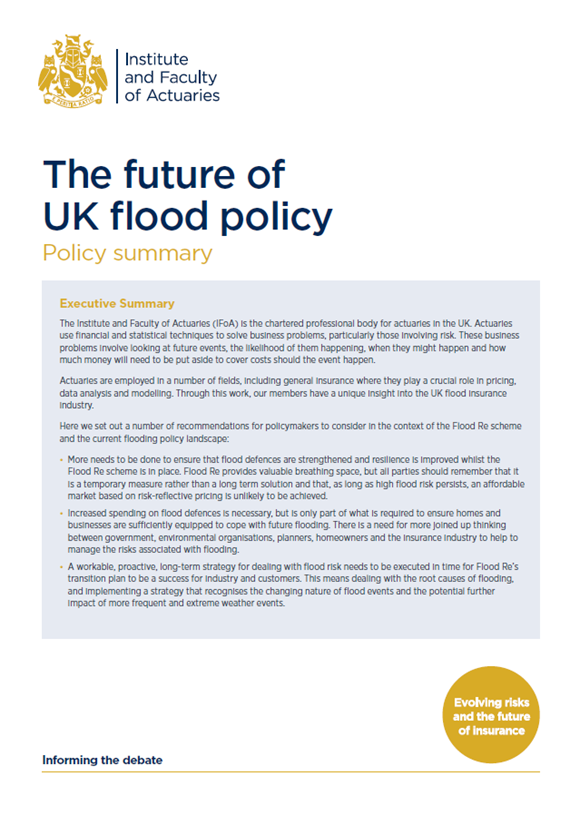 Flood policy summary paper