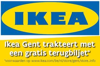 IKEA Gent trakteert met een gratis terugbiljet