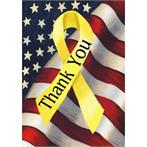 Flag/yellow ribbon