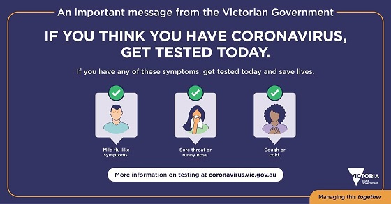 if you think you have coronavirus get tested today
