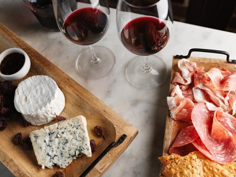 Wine, cheese and charcuterie at Coogee Wine Room