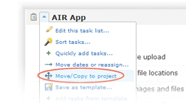 Move or copy an entire task list
