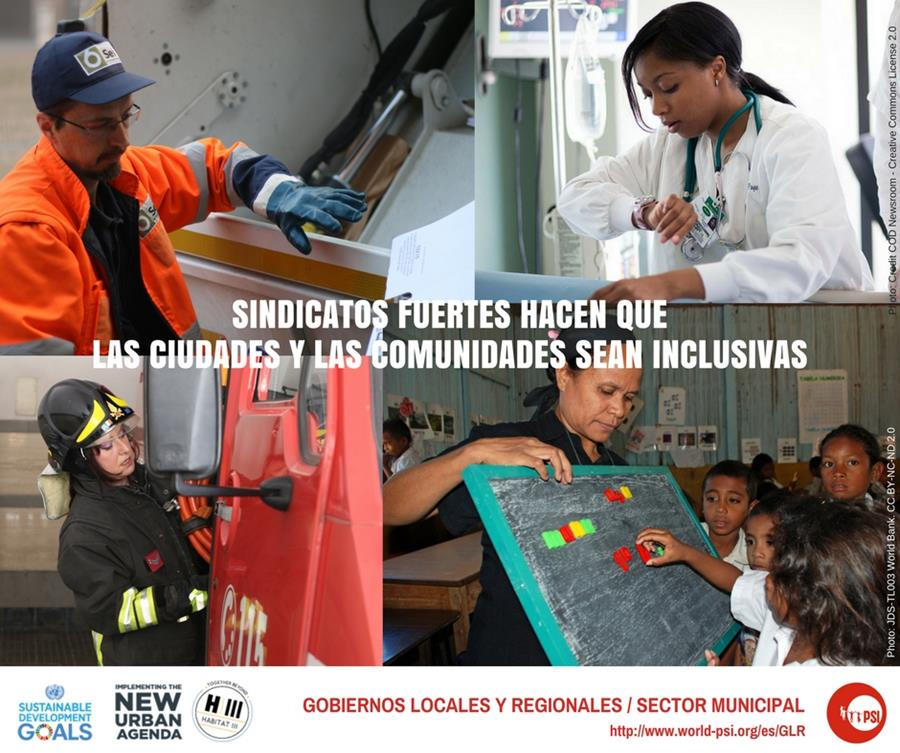Tres maneras en que los sindicatos hacen que las ciudades y las comunidades locales sean más equitativas e inclusivas