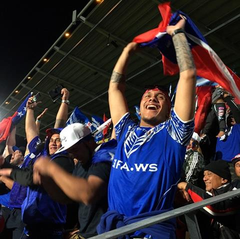 Rugby league fans cheering