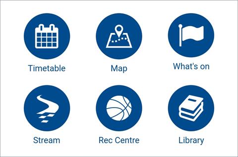 Screenshot of Massey Uni app