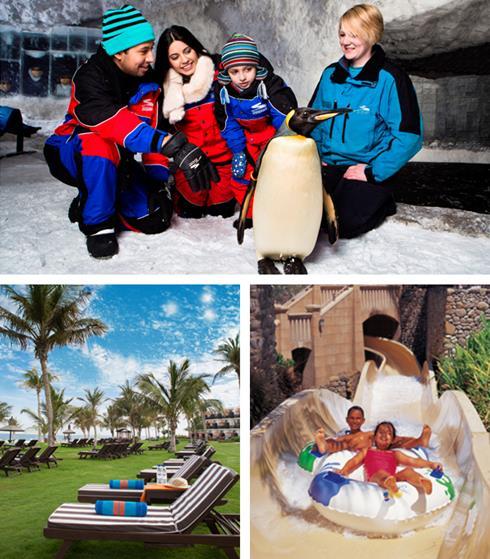 Ski Dubai, Sun loungers and Wild Wadi